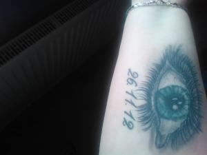 My eye tattoo